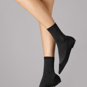 Velvet 66 leg socks black 3