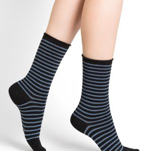 Fine wool stripes SO black/blue 3