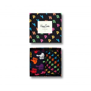 Happy 2 pack gift box black/multi