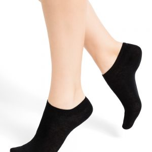 Mini wool socks black 3