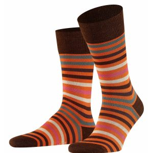Tinted stripe socks ziegel