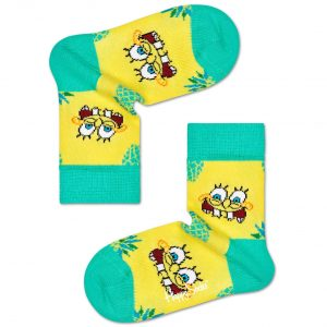 Kids Sponge Bob finapple surprice socks yellow
