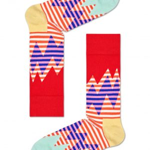 Stripe reef socks red/multi