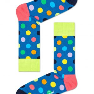 Big dot socks lime/multi