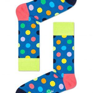 Big dot socks lime/multi