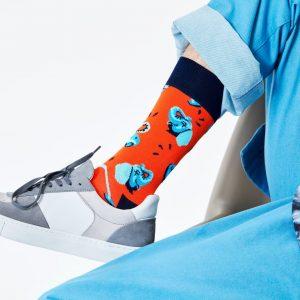 Clean elephant socks orange/multi