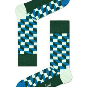 Filled optic socks green/blue