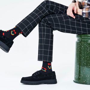Happy rainbow socks black/multi