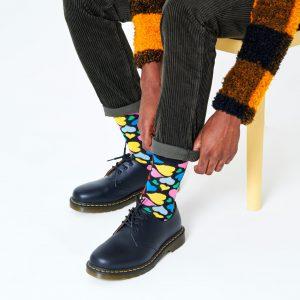 Heart socks black/multi