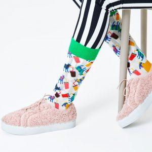 Milkshake cow socks white/multi