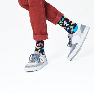Milkshake cow socks blue/multi