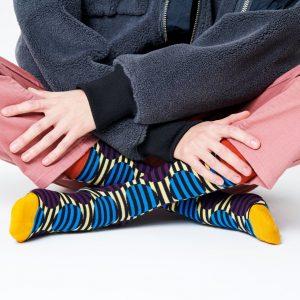Optic dot socks orange/multi