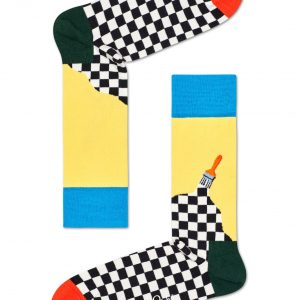 Paint socks yellow/multi