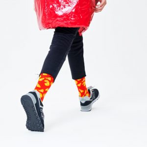 Pizza socks red/yellow