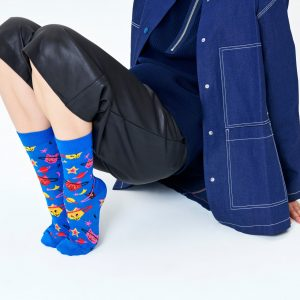 Space cat socks blue/multi