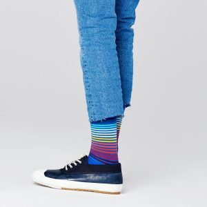 Half stripe socks blue/multi