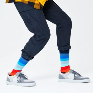 Stripe socks black/multi