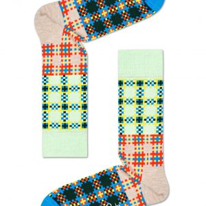 Tartan square socks green/multi