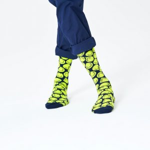 Twisted smile socks blue/yellow