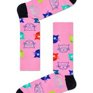 3 pack mixed cat socks gift set