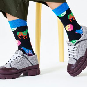 Ying Yang cos socks black/multi