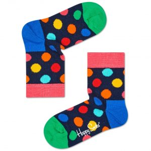Big dot socks blue/pink/multi