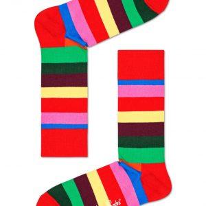 Stripe socks red/multi