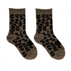 Barðastaðir baby socks brown