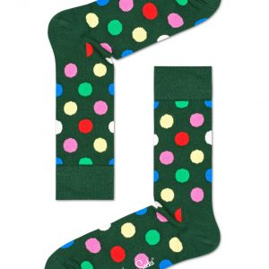 Big dot socks green/multi