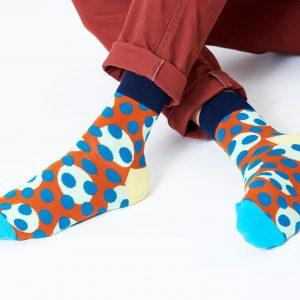 Dots dots dots 1/2 crew socks brown/multi