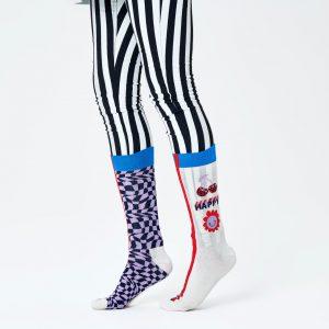 Half/half optic socks white/multi
