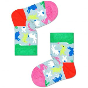 Kids bunny socks green/multi