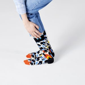 Leopard socks black/multi