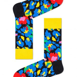 Leopard socks yellow/multi