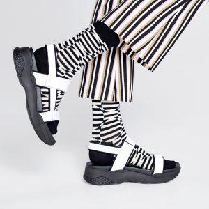 Optic dot socks black/white