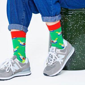 Poke bowl socks green/multi