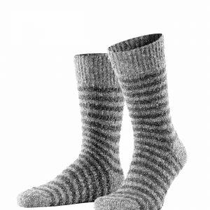 Boucle boot socks light greymel
