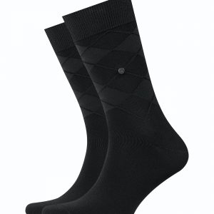 Burlington Black Rhomb socks