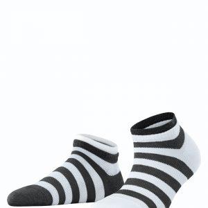Esprit Mesh stripe SN 2/pk black white 3