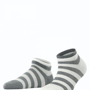 Esprit Mesh stripe SN 2/pk grey white 3