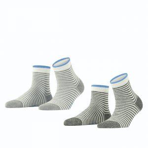 Esprit wide stripes SO 2/pk grey white 3
