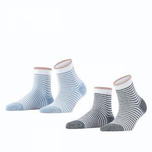 Esprit wide stripes SO 2/pk blue grey 3