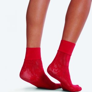 Wolford Kassandra socks rubino one size