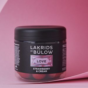 Lakkrís LOVE strawberry & cream 125 gr