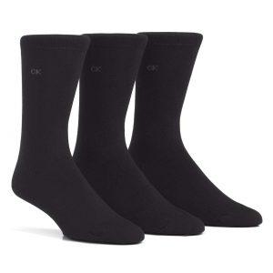 Calvin Klein Eric 3/pk socks cotton black