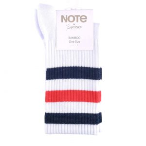 NOTE bamboo tennis white/red/blue