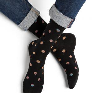 Bleuforet Shaded dots sokkar black