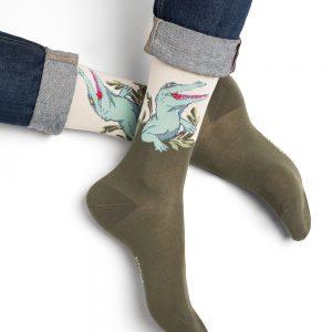 Bleuforet crocodile sokkar khaki