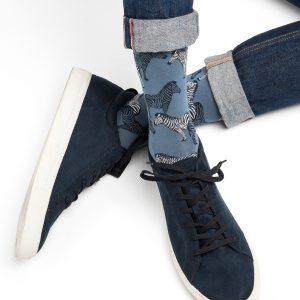 Bleuforet zebra sokkar blue jean