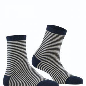 Burlington Ladywell Ringlet socks marine